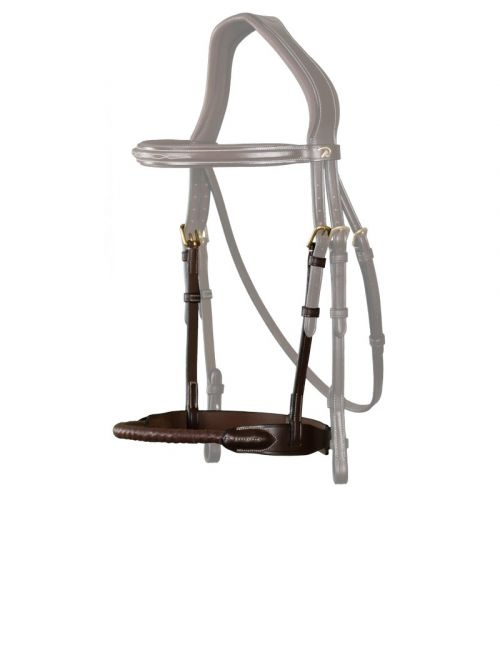 Dyon D Collection leather covered rope noseband - 1