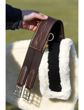 Kentucky horsewear sheepskin stud girth cover natural - 4