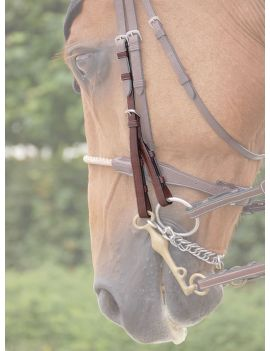 Dyon New English Collection double bridle cheek pieces - 1