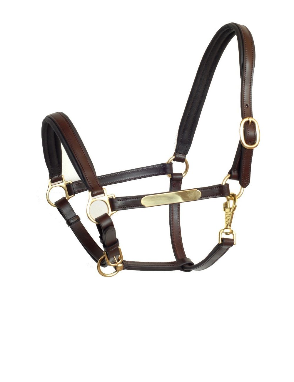 Döbert leather halter with name tag - 1