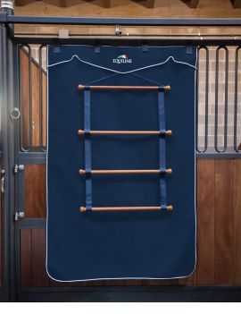 Equiline wooden rack for saddlepads