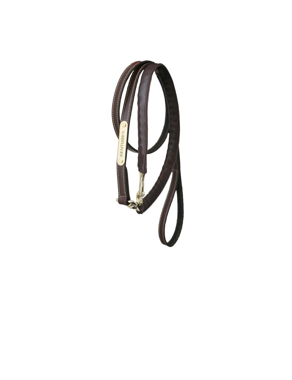 Kentucky Horsewear leather covered chain lead - 1