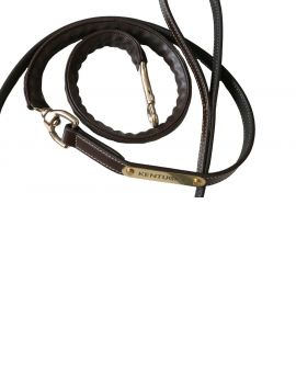 Kentucky Horsewear leather covered chain lead 270cm - 2