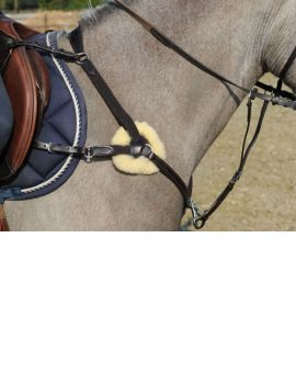LJ Leathers breastplate eventing with elastic - 1