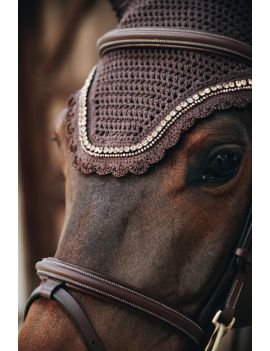 Kentucky Horsewear Fly Veil Wellington Soundless Stone & Pearl - 8