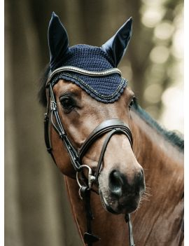 Kentucky Horsewear Vliegenmuts Lang Soundless Stone & Pearl - 1