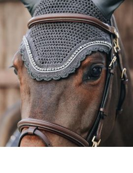Kentucky Horsewear Fly Veil Wellington Soundless Stone & Pearl - 6