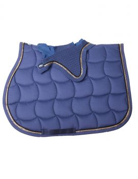 Anna Scarpati saddlepad and fly veil gold