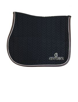 Kentucky Horsewear Saddle Pad Fishbone Leather