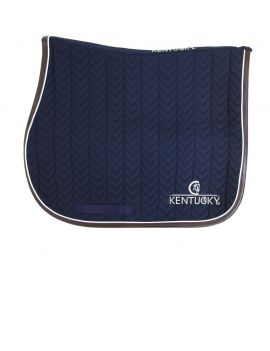 Kentucky Horsewear Saddle Pad Fishbone Leather - 2