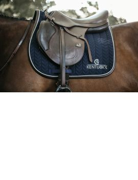 Kentucky Horsewear Saddle Pad Fishbone Leather - 1