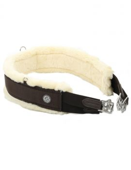 LJ Leathers training girth with wool - 1