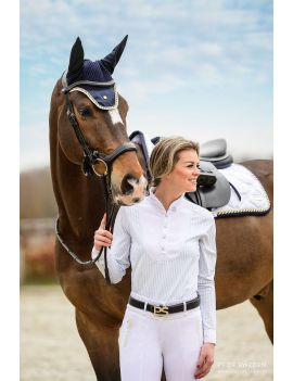 PS of Sweden Saddle Pad Jumping Monogram Lap of Honor White - 1