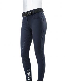 Eqode rijbroek dames full-grip hoge band Navy - 1