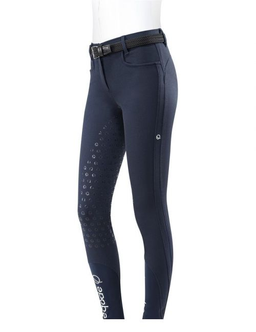 Eqode riding breeches ladies full-grip navy - 1