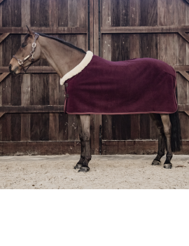 Kentucky Horsewear Fleece Rug Show Heavy Bordeaux - 1