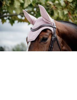 Kentucky Horswear fly veil Wellington Velvet Pink - 1