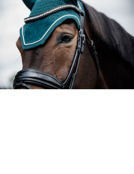 Kentucky Horswear fly veil Wellington Velvet Emerald - 1