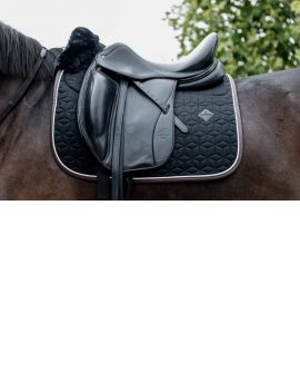 Kentucky Horsewear Saddle Pad Dressage skin friendly black - 1