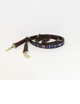 Kentucky Dogwear dog lead pearls blue - 1