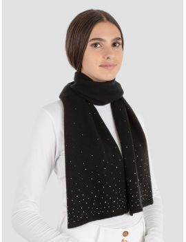 Equiline wool scarf with rhinestones Galy - 1