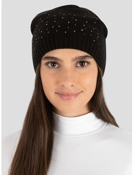 Equiline wool hat with rhinestones Genoa - 1