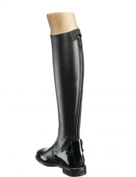 Tucci riding boots Marilyn punched patent - 1