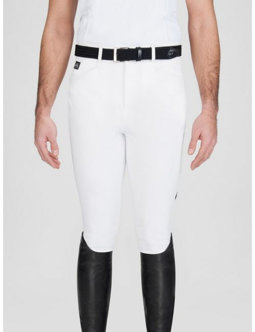 Equiline riding breeches knee-grip Curtis white - 1