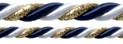 122 – Dark blue/gold/white